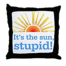 Global Warming Sun Throw Pillow