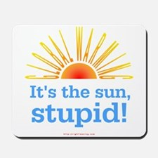 Global Warming Sun Mousepad