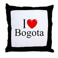 """I Love Bogota"" Throw Pillow"