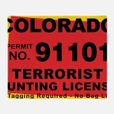 terrorist-hunting-license-XL-CO Throw Blanket