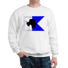 Antarctica Diver Alpha Flag Sweatshirt