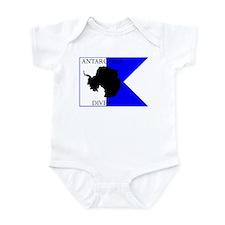 Antarctica Diver Alpha Flag Infant Bodysuit
