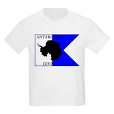 Antarctica Diver Alpha Flag Kids T-Shirt
