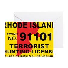 terrorist-hunting-license-XL-RI Greeting Card