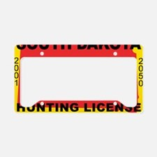 terrorist-hunting-license-XL- License Plate Holder