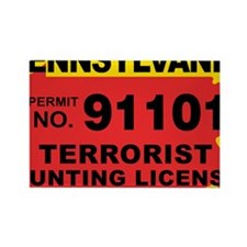 terrorist-hunting-license-XL-PA Rectangle Magnet