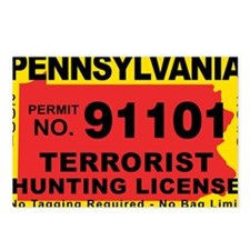 terrorist-hunting-license Postcards (Package of 8)