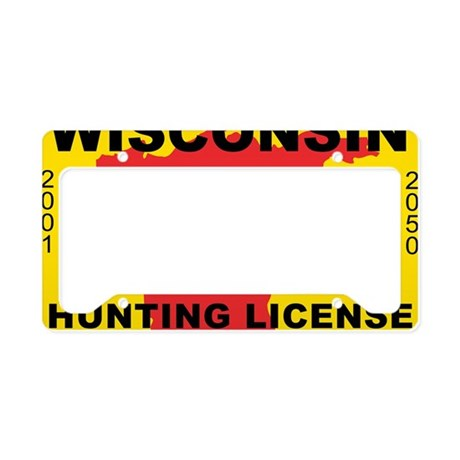 terrorist-hunting-license-XL- License Plate Holder