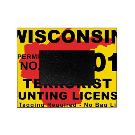 Terrorist hunting license xl wi picture frame by admin for Wisconsin fishing license