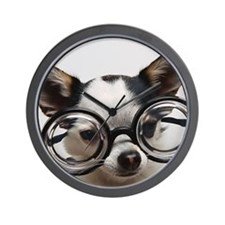CHI Glasses L print Wall Clock