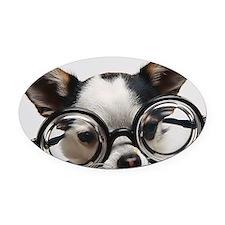 CHI Glasses mousepad Oval Car Magnet