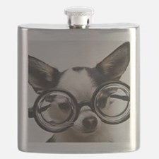 CHI Glasses panel print Flask