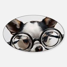CHI Glasses panel print Sticker (Oval)