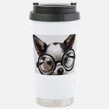 CHI Glasses panel print Stainless Steel Travel Mug