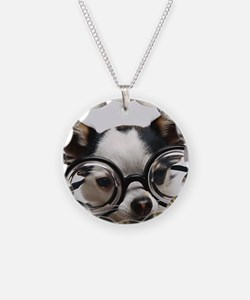 CHI Glasses panel print Necklace