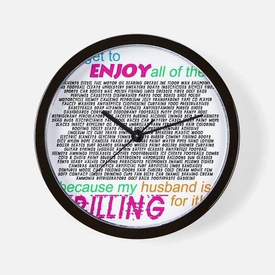 drilling4u WHT Wall Clock
