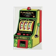 Las Vegas Norml Slot Machine Rectangle Magnet