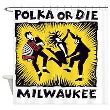 POLKA or DIE Shower Curtain