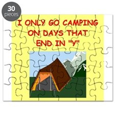 funny camp camper camping joke Puzzle