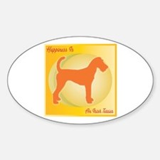 Terrier Happiness Oval Decal