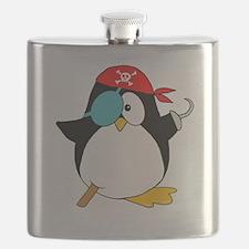 penguinpiratearghSHIRTDARK Flask