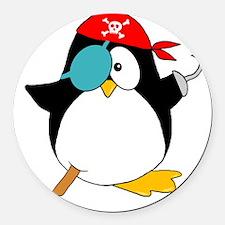 penguinpiratearghSHIRTDARK Round Car Magnet