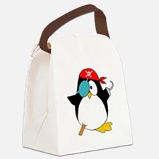 penguinpiratearghSHIRTDARK Canvas Lunch Bag