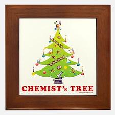 Chemist Christmas Tree! Framed Tile
