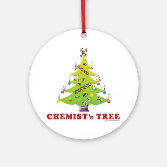 Chemist Christmas Tree! Round Ornament