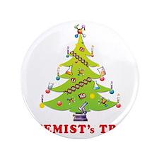 "Chemist Christmas Tree! 3.5"" Button"