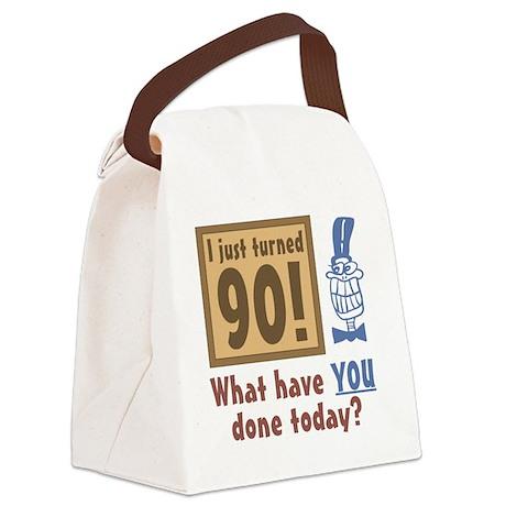 BdayQuestion90 Canvas Lunch Bag