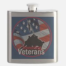 Honoring Veterans Flask