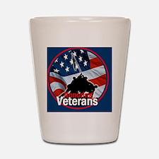 Honoring Veterans Shot Glass