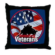 Honoring Veterans Throw Pillow