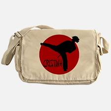 karate girl cristina Messenger Bag