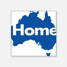 "Australia-Home-Blue Square Sticker 3"" x 3"""