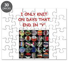 funny knit knitter knitting joke Puzzle
