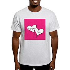 artsyHeartsPinkEngaged2010-01 T-Shirt