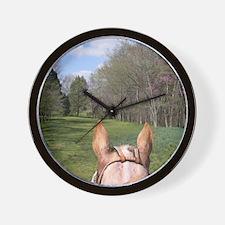 horse_ride_calendar Wall Clock