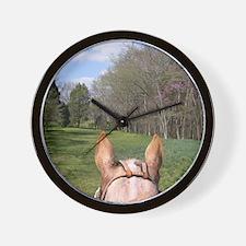 horse_ride_mpad Wall Clock