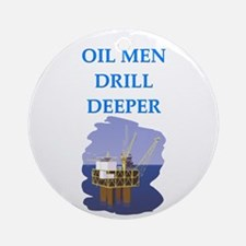 OIL men Ornament (Round)