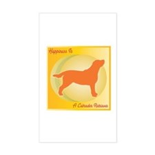 Labrador Happiness Rectangle Decal