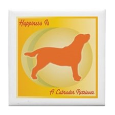Labrador Happiness Tile Coaster