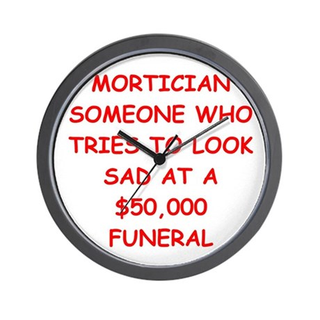 MORTician Wall Clock