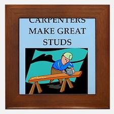 CARPENTER joke Framed Tile