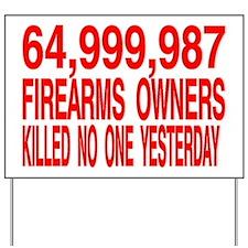 64,999 Yard Sign