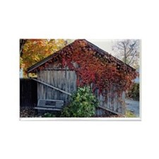 old_barn_card Rectangle Magnet