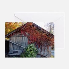 old_barn_Lg_framed Greeting Card