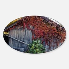 old_barn_Lg_framed Sticker (Oval)