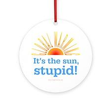 Global Warming Sun Ornament (Round)
